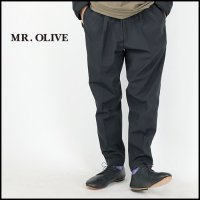 <img class='new_mark_img1' src='https://img.shop-pro.jp/img/new/icons6.gif' style='border:none;display:inline;margin:0px;padding:0px;width:auto;' />MR.OLIVE(ミスターオリーブ)<br>WATER PROOF ONE PLEATS TAPERED EASY PANTS(ウォータープルーフワンプリーツイージーパンツ)