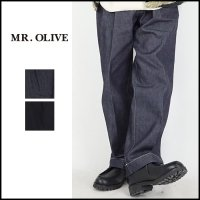 <img class='new_mark_img1' src='https://img.shop-pro.jp/img/new/icons6.gif' style='border:none;display:inline;margin:0px;padding:0px;width:auto;' />MR.OLIVE(ミスターオリーブ)<br>BELTED WIDE STRAIGHT DENIM PANTS(ベルト付きワイドストレートデニムパンツ)