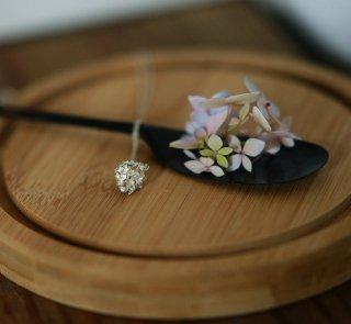 紫陽花のネックレス -hydrangea macrophylla necklace- (silver925・シルバー)