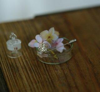 紫陽花のピンブローチ-hydrangea macrophylla pin brooch- (silver925・シルバー)