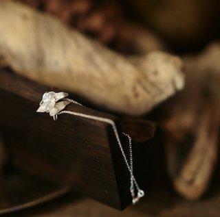 露草のブレスレット -tsuyukusa /commelina communis  bracelet-(silver925・シルバー)