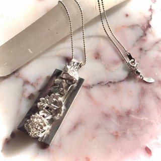 花図鑑プレートペンダント -hanazukan/plate pendant-(silver925・シルバー)