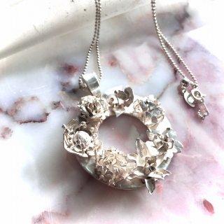 花図鑑リースペンダント -hanazukan/wreath pendant-(silver925・シルバー)