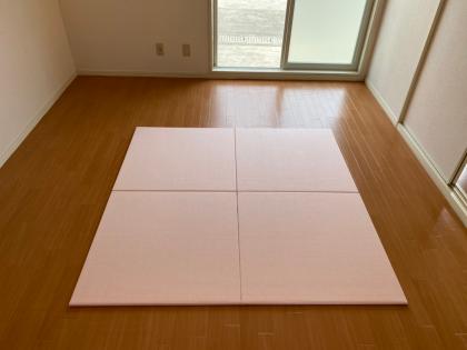 【和紙】ヘリ無し畳 850×850mm 桜