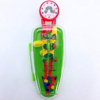はらぺこあおむし デラックストレーニング箸 (おけいこ箸) (ケース付) プリント エリック・カール ベビー用品(MCD)