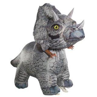 コスチュームセール開催中!50%オフ対象商品 恐竜 コスチューム 大人用 トリケラトプス インフレイタブル