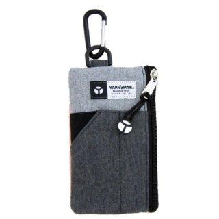 店内セール開催中!20%オフ対象商品 YAKPAK スマートフォンポーチ (スマホケース) グレー スウェット モバイル用品 (ORYA)