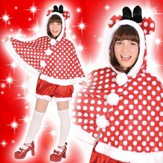 コスチュームセール開催中!20%オフ対象商品 ディズニーコスチューム大人女性用ミニーフードケープとパンツのセット仮装 4580370952797