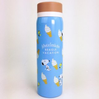 SNOOPY スヌーピー ステンレスボトル ソフトクリーム 水筒 グッズ(MCD)