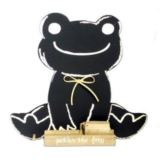 シュシュ ピクルス 黒板 ダイカット クラフトシリーズ (Pickles the frog)