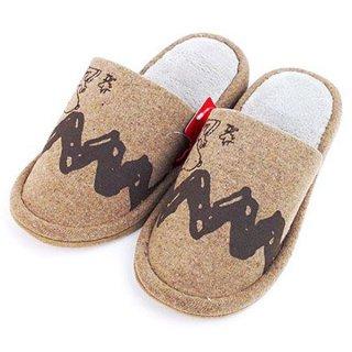 SNOOPY スヌーピーとファーロンウッドストック ジグザグ 外縫いスリッパ ブラウン グッズ(MCD)