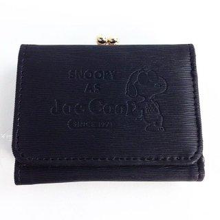 スヌーピー ミツオリサイフ シボカワ BK ジョー クール 三つ折り財布 財布 スヌーピー 黒 グッズ  (MCOR)