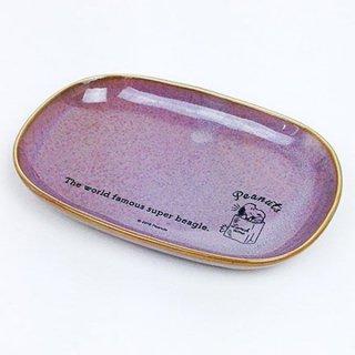 スヌーピー オーバルプレート ランチタイム PU スヌーピー 皿 プレート 紫 グッズ