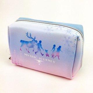アナと雪の女王 アナ エルサ スクエアポーチ シルエットFROZEN2 ポーチ 小物入れ 化粧ポーチ ブルー グッズ  (MCOR)