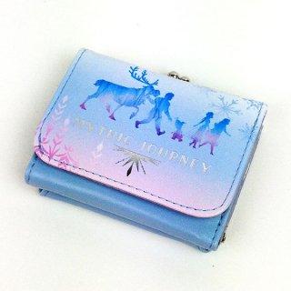 アナと雪の女王 アナ エルサ コンパクト財布 シルエット FROZEN2 財布 三つ折り ブルー グッズ  (MCOR)