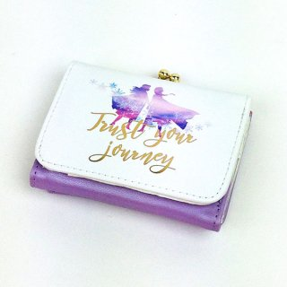 アナと雪の女王 アナ エルサ コンパクト財布 シルエット FROZEN2 財布 三つ折り 白 グッズ  (MCOR)