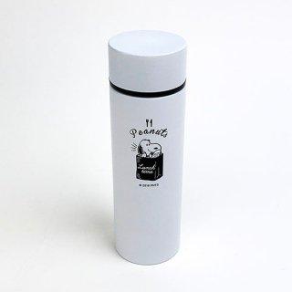 スヌーピー ポケットステンレスボトル ランチタイム BK スヌーピー 水筒 ミニボトル スヌーピー ホワイト グッズ