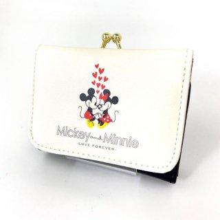 ディズニー ミッキー&ミニー コンパクト財布 ミッキー&ミニー WH 財布 ホワイト グッズ  (MCOR)