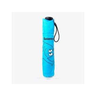 BARBAPAPA バーバパパ 雨晴兼用 軽量 ミニ傘  折りたたみ傘 ピカリ ブルー グッズ(MCD)