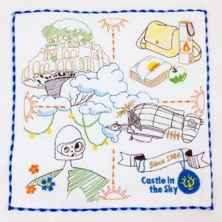 天空の城ラピュタ ジブリ 天空の城ラピュタ ストーリー ミニタオル タオル   緑 グッズ 日本製