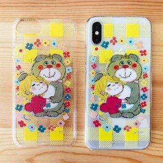 水森亜土 あどちゃん iPhone8/7/6/6s 対応 クリアケース iPhoneケース 透明 イエロー グッズ (PWOR)
