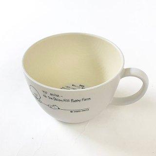 スヌーピー スープカップ STUDY スヌーピー 食器 メラミン食器 ランチ 木目調 SNOOPY 白 グッズ 日本製  (MCOR)