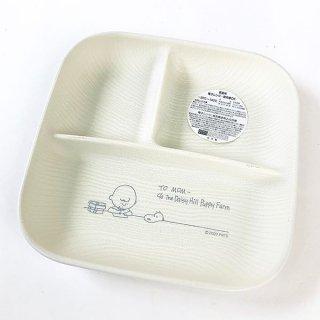 スヌーピー スクエアワンプレート L スヌーピー 食器 メラミン食器 ランチ 木目調 SNOOPY 白 グッズ 日本製  (MCOR)