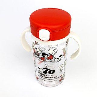 スヌーピー スヌーピー 70th お出かけストローマグ 300 ストローマグ  まぐまぐ マグマグ 赤 グッズ(MCD)