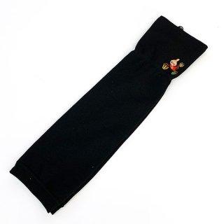 ムーミン UV手袋 フラワー UVケア 日焼け防止 サマー  黒 グッズ
