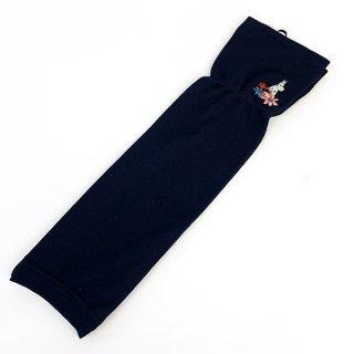 ムーミン UV手袋 フラワー UVケア 日焼け防止 サマー  紺 グッズ