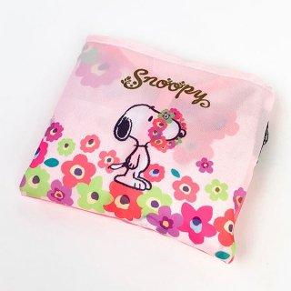 スヌーピー 2WAY SHOPBAG PK フラワービーグルSN バッグ マルシェバッグ エコバッグ ショッピングバッグ ピンク グッズ