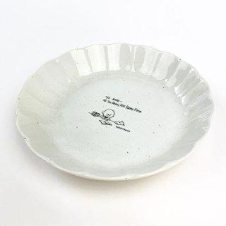 店内セール開催中!10%オフ対象商品 スヌーピー 輪花型 皿 L スヌーピー プレート ランチ  白 グッズ