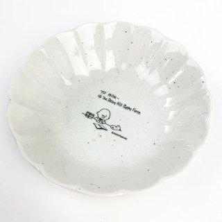 店内セール開催中!10%オフ対象商品 スヌーピー 輪花型 皿 M スヌーピー プレート ランチ  白 グッズ
