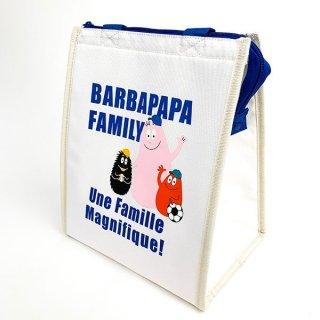 バーバパパ ランチバッグスクエアL スポーツ バーバパパ ランチ バッグ トート  青 グッズ