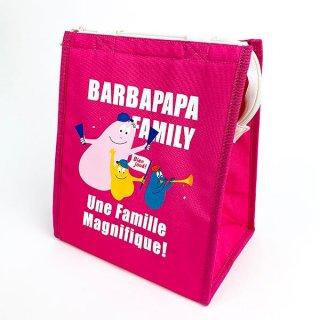 バーバパパ ランチバッグスクエアL チア バーバパパ ランチ バッグ トート  ピンク グッズ(MCD)