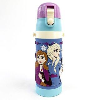 アナと雪の女王 アナ エルサ 3D R ロック付きワンプッシュダイレクトボトル  アナ雪 水筒 水色 グッズ