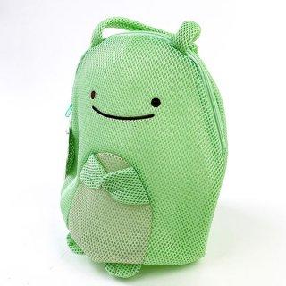 すみっコぐらし とかげ 本物 メッシュトート M メッシュ トート バッグ すみっこぐらし 緑 グッズ(MCD)