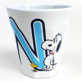 イニシャルメラミンカップ Nスヌーピー