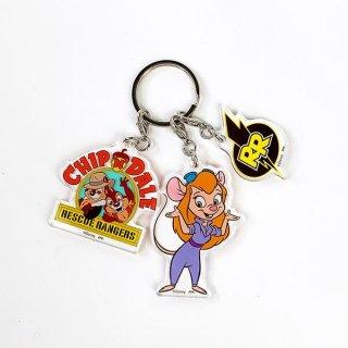 ディズニー レスキューレンジャー 3連アクリルキーホルダー キーホルダー チップとデール ガジェット  日本製  (MCOR)