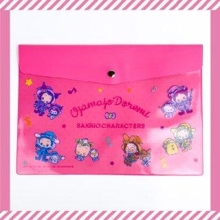 おジャ魔女どれみ ビニールケース おジャ魔女×サンリオキャラクターズ マルチケース ピンク グッズ