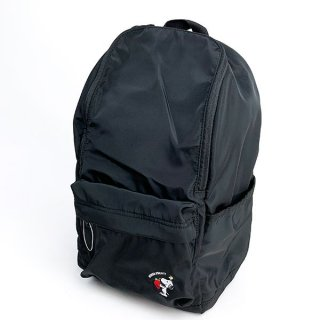 スヌーピー オープンワイドデイパック ストロベリー スヌーピー デイパック バッグパック リュック  黒 グッズ  (MCOR)