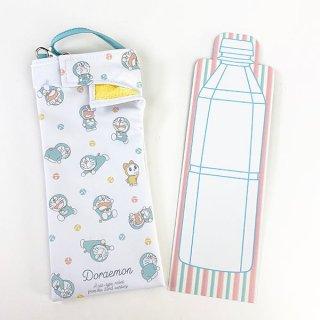 Doraemon ドラえもん くるポン 全身ちらし 雨具 KURUPON ペットボトルホルダー 折り畳み傘 収納 ホワイト