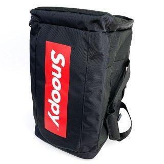 スヌーピー スクエアボストンリュック ロゴ ボストンバッグ リュック バックパック レッド グッズ  (MCOR)