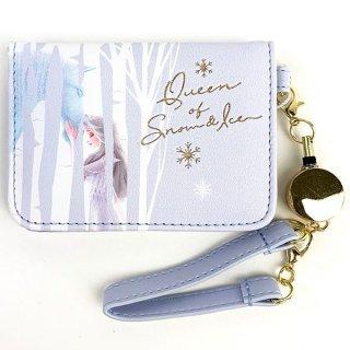 ディズニー エルサ オープンパスケース BL エルサ  プリンセスアナと雪の女王 Disney 小物入れ 定期入れ ブルー  (MCOR)