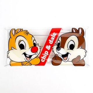 店内セール開催中!30%オフ対象商品 ディズニー チップ&デール クリアマルチケース チップとデール  ケース ポーチ マルチケース   (MCOR)
