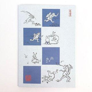 ミッフィー 鳥獣戯画 miffy×鳥獣戯画 コラボ A5ノート 青灰・4マス グッズ (MCOR)