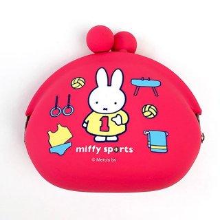 miffy ミッフィー POCHI スポーツ がま口 小銭入れ 財布 コインケース ピンク グッズ(MCD)