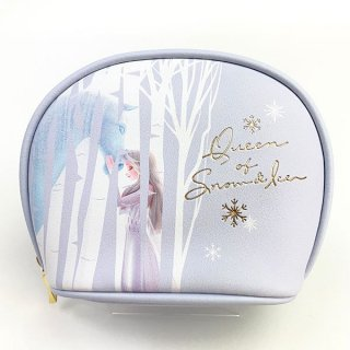 店内セール開催中!10%オフ対象商品 ディズニー エルサ ラウンドポーチ BL エルサ プリンセス アナと雪の女王 小物入れ ベビー 学生 Disney  ブルー  (MCOR)