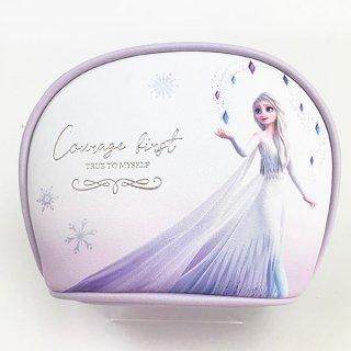 ディズニー エルサ ラウンドポーチ WH エルサ プリンセスアナと雪の女王 小物入れ ベビー 学生 Disney  ホワイト  (MCOR)