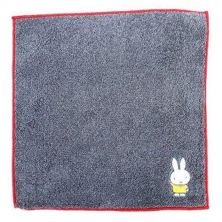 ミッフィー 刺繍M/T GY ミッフィー ミニタオル ミニハンカチ タオルハンカチ タオル グレー グッズ